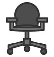 officer chair icon filled line style eps10 vector image