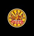 pizza3logocdr vector image vector image