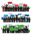 Protesting People Crowd Banners vector image