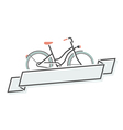 Retro bicycle and ribbon vector image vector image