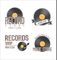 retro vinyl records background collection 2 vector image