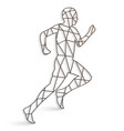 running man with lines on a white background vector image vector image