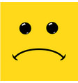 sad face symbol icon unhappy vector image vector image