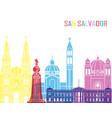 san salvador skyline pop vector image vector image