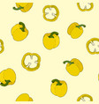 seamless pattern pepper hand drawn set vegetable vector image vector image