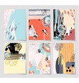 set of 6 modern abstract digital contemporary vector image vector image