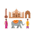 set with indian culture