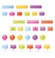 Shiny glowing buttons and icons vector image vector image