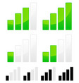 signal strength indicator set vector image vector image