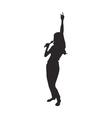 Singer silhouette vector image