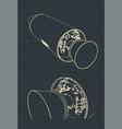 spaceship drawings vector image