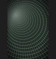 spiral tunnel wireframe technology vortex tunnel vector image vector image