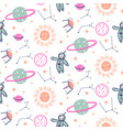 stars and planets seamless pattern vector image vector image