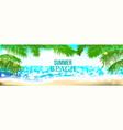 summer time club seashore palm landscape vector image vector image