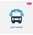 two color public transport icon from transport vector image vector image