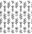 Vertical floral pattern vector image vector image