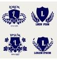 Vintage heraldic floral shields vector image vector image