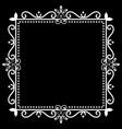 vintage ornamental frame on black background vector image