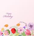 Watercolor Wild flower background vector image vector image