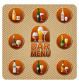 bar menu icon vector image