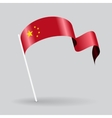 Chinese wavy flag vector image
