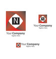 square business cube logo vector image