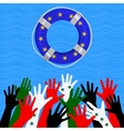 Refugees in Europe concept vector image