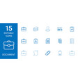 15 document icons vector image vector image