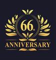 66th anniversary logo 66 years anniversary design