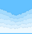 abstract horizontal seamless paper clouds clouds vector image vector image