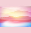 background with sea and mountain sunset time vector image vector image