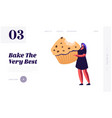 bakery and sweet food website landing page tiny vector image vector image