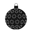 ball single icon in black stylea toy symbol vector image