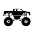 bigfoot truck vector image