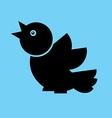 bird Flat Twitter vector image vector image