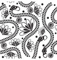 black and white zippers seamless pattern vector image