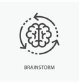 brainstorm line icon on white background vector image