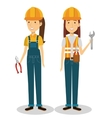 builders group avatars characters vector image