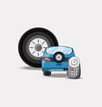 car service design vector image vector image