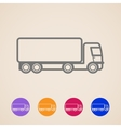 cargo truck icons vector image vector image