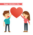 characters couples happy valentines day isolated vector image