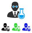 chemist flat icon vector image