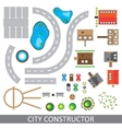 City constructor Set of urban elements vector image