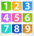 Colorful torn papers numbers vector image vector image