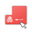 concept of cyber piracy vector image