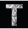 crystal letter T vector image