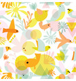 cute birds seamless pattern abstract bird vector image