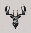 deer be wild and free vector image vector image