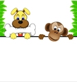 dog and monkey vector image