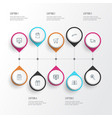 ecommerce icons line style set with delivery vector image vector image